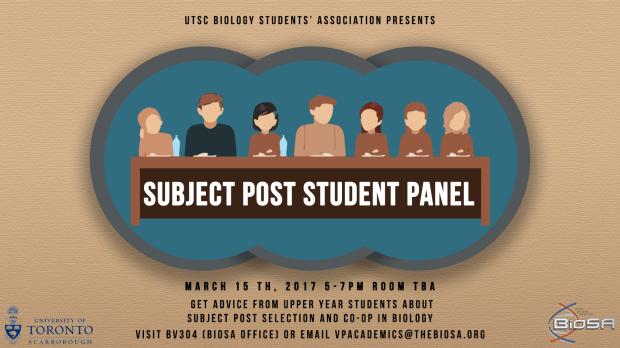 Subject Post Student Panel