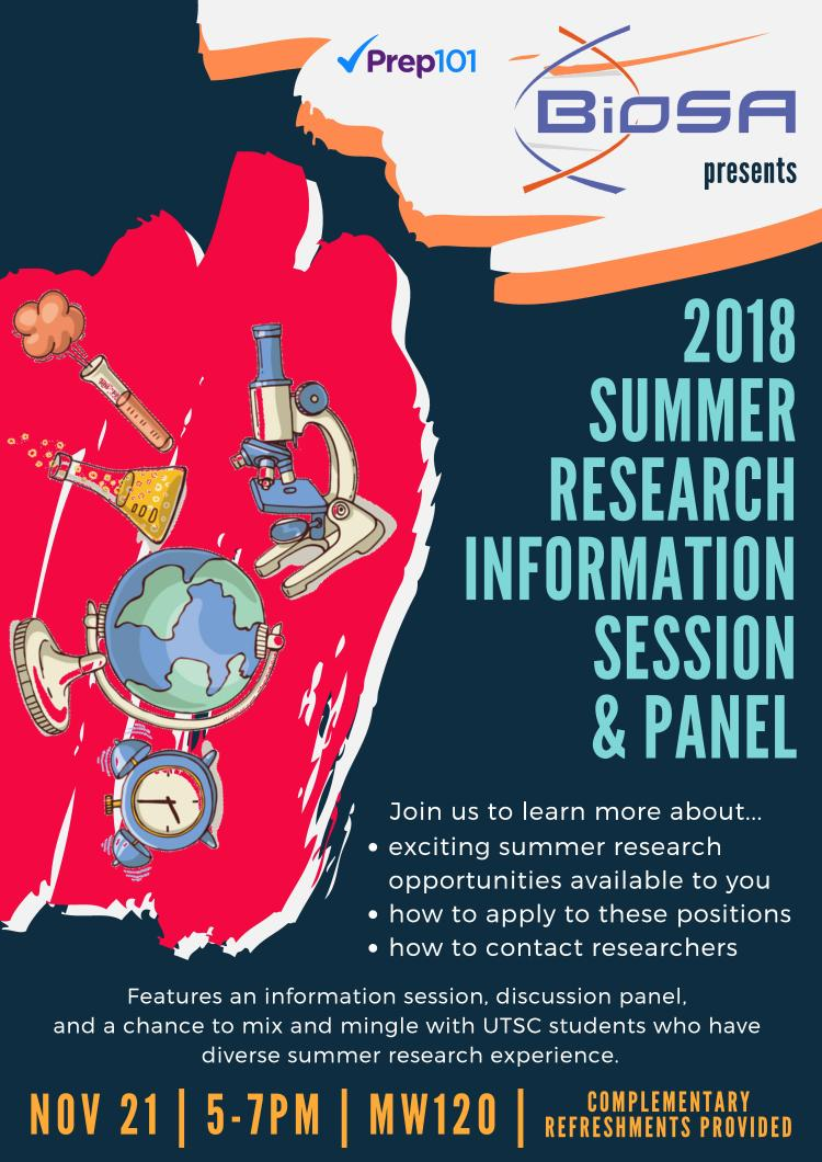 2018 Summer Research Information Session & Panel - Facebook Poster (1)