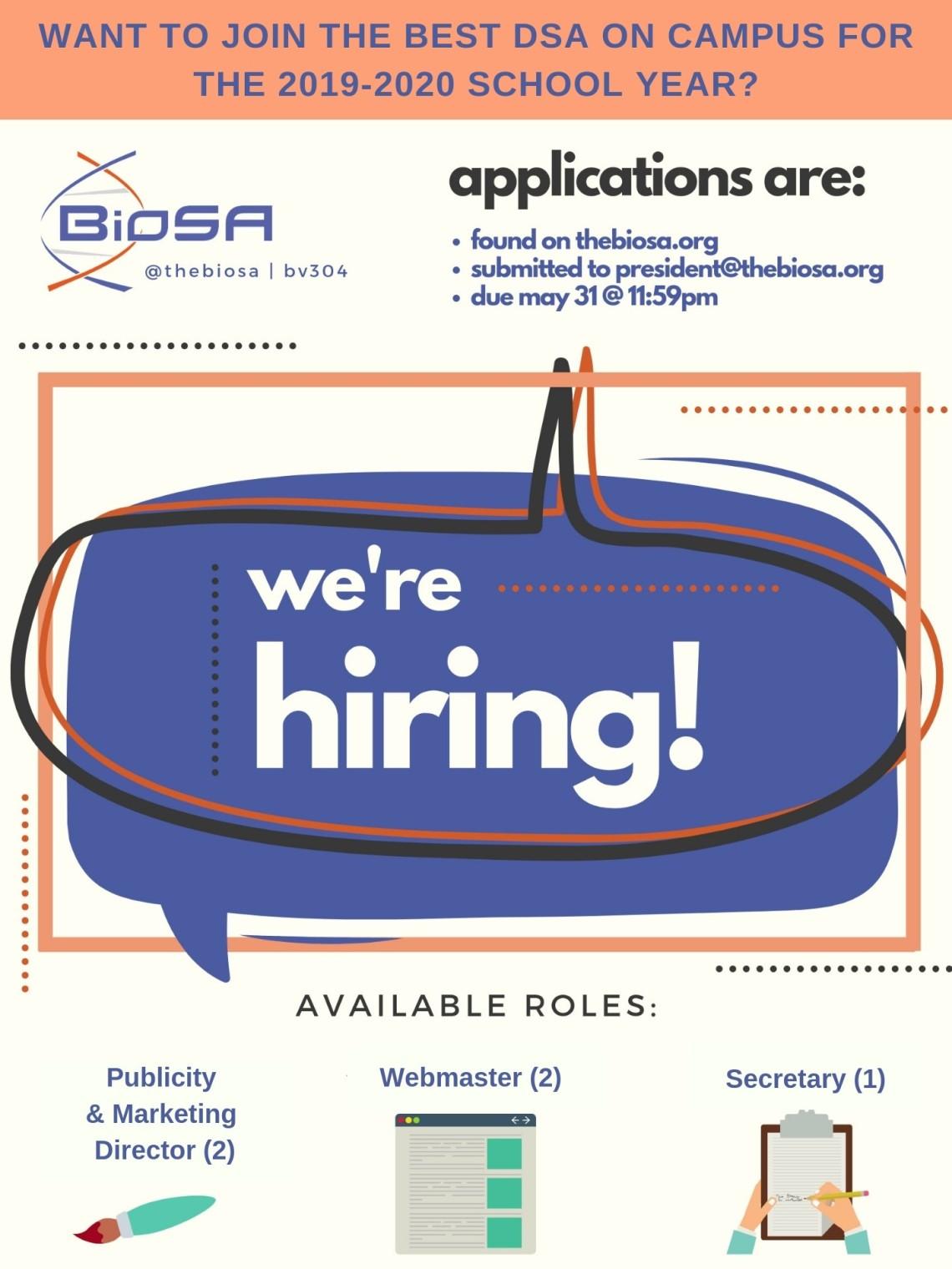 hiring biosa