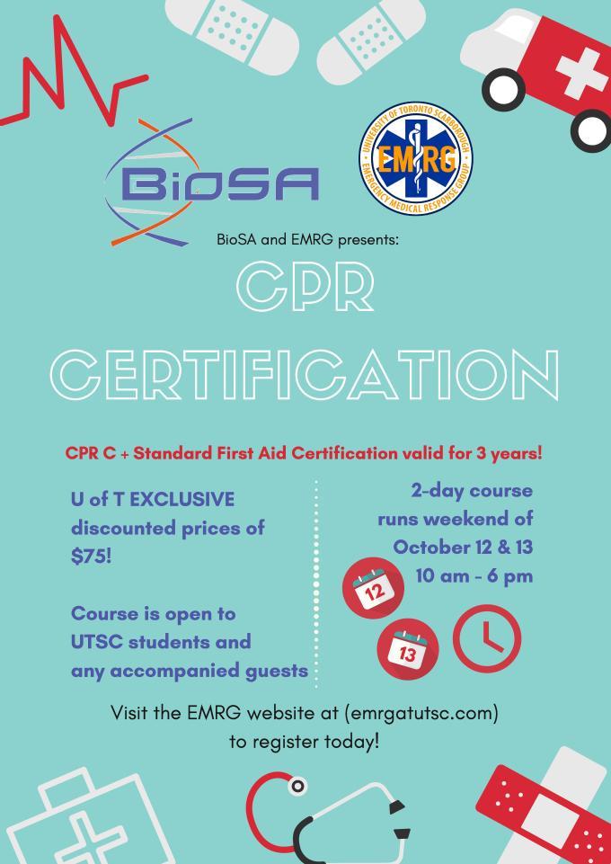 BioSA x EMRG Reading Week CPR Poster