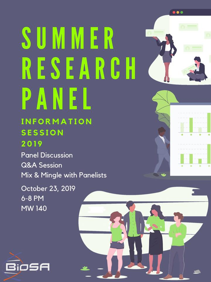 summer research panel info